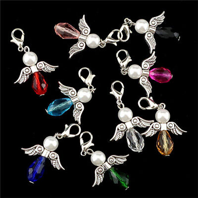 - 14pcs Wing Angels Guardian Acrylic Beads Pendant Diy Making Charm