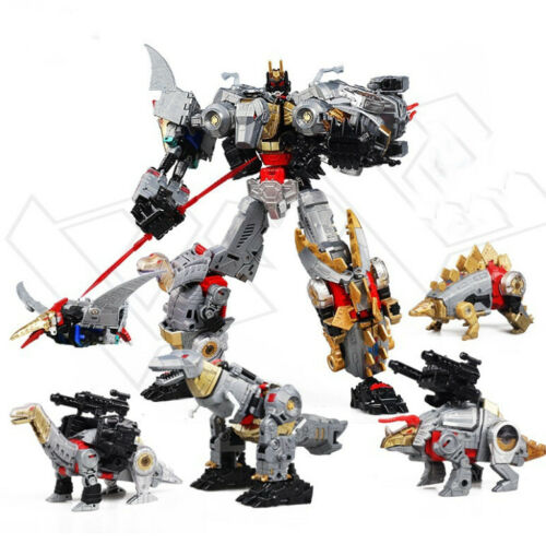 Transformers Dinosalur Combat Team 5 in 1 Alloy Version Dinobots Combiner 5 Bots