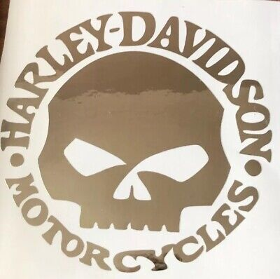 Harley Davidson decals stickers X 2 Chrome Vinyl Can Be Done Any Colours