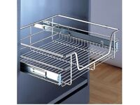 FREE pull-out storage basket for cabinet x2