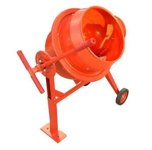 Electric Portable Cement Mixer Wheel Barrow Concrete Mixer  153015