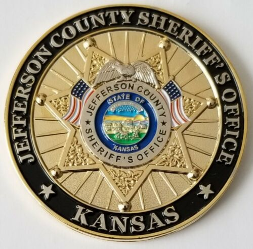 Jefferson County Kansas Sheriffs Office Sheriff Jeffrey L Herrig Challenge Coin