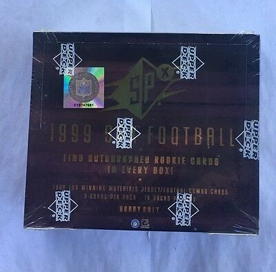 1999 Upper Deck SPX Football Hobby Box Factory Sealed