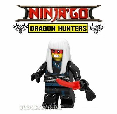 NINJAGO - HARUMI BLACK NINJA  - DRAGON HUNTER - fits lego figure (J8)
