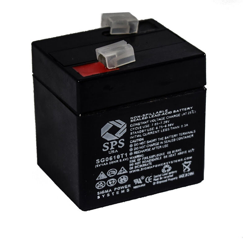 SPS Brand 6V 4.5Ah Replacement Battery for Portalac PE6V4F1 6V 4.5Ah Emergency Light 4 Pack
