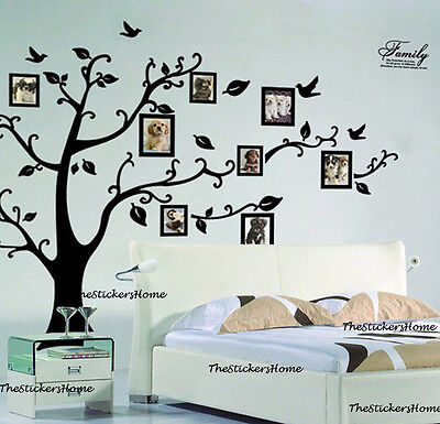 Home Decoration - Black Friday Sale Family Tree Wall Stickers Photo Frame Art Decals Home Decor UK