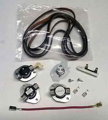 Dryer Thermostat Fuse Belt Kit Whirlpool Kenmore Sears Maytag Roper Part 3977767