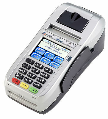Unlocked First Data Fd130 Emv Nfc Dialip Credit Card Machine Updated