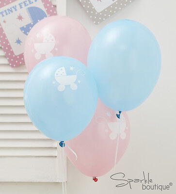 Baby Shower/Christening BALLOONS-Unisex Decorations-FULL TINY FEET RANGE IN SHOP (Baby Shower Shop)