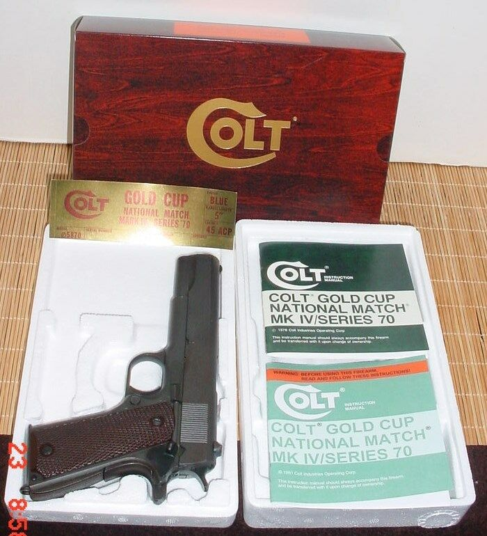 Colt Foam Box and Paperwork for Colt 1973-1983 Gold Cup  & MK-IV 70 Series also