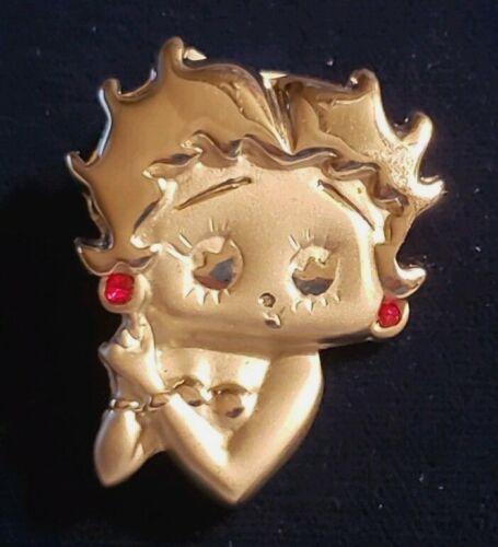 BETTY BOOP Fashion Silvertone Pin Bust Cartoon Character Brooch