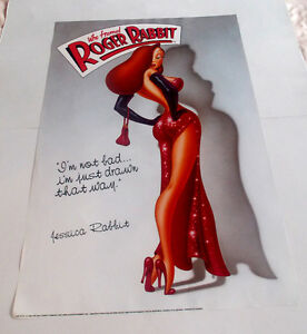 JESSICA RABBIT POSTER FROM 1988, WHO FRAMED ROGER RABBIT MOVIE
