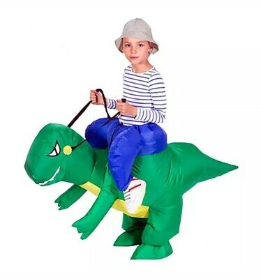 DH Halloween Inflatable Ride Dinosaur T-Rex Party Role Play Fancy Costume kids