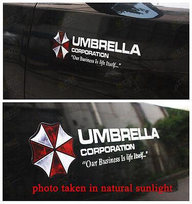 2 x reflektierend sticker Aufkleber UMBRELLA CORPORATION logo 12cm A40306W
