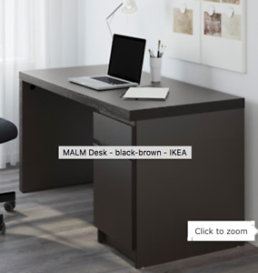 IKEA MALM Desk - Brown black