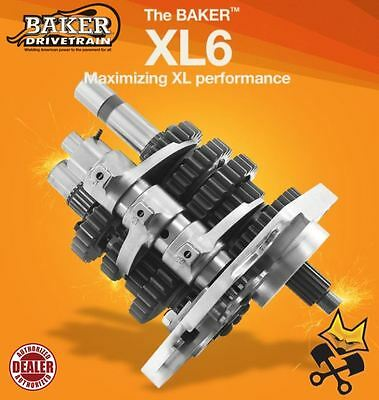 BAKER XL6 6-SPEED TRANSMISSION GEAR SET HARLEY SPORTSTER 95-'03 BUILDERS KIT 202