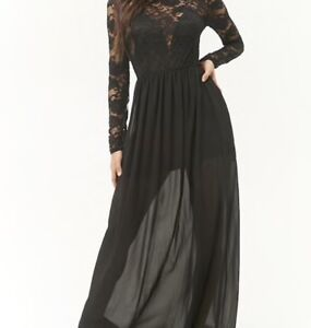 Black lace cut out Maxi dress (Brand New) for SALE