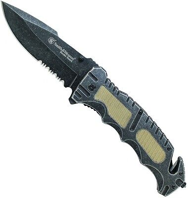 Liner Lock Part (Smith & Wesson Part Serrated Liner Lock Drop Point Folding Knife 7Cr17MoV)