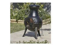 Blooma Diogo Steel Chiminea Burner Fire Pit Fireplace Garden Heater