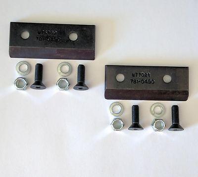 2 of Troy-Bilt MTD Craftsman Yard Machines OEM Chipper Blades 781-0490 w/Screws