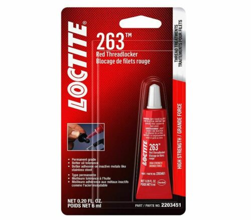 Loctite 2203451 (263) Threadlocker Surface Insensitive Red, 6 ml Tube