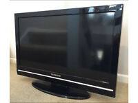 """Techwood 32"""" Lcd Full Hd Slimline Tv Built In Freeview Remote & Stand Excellent Condition"""