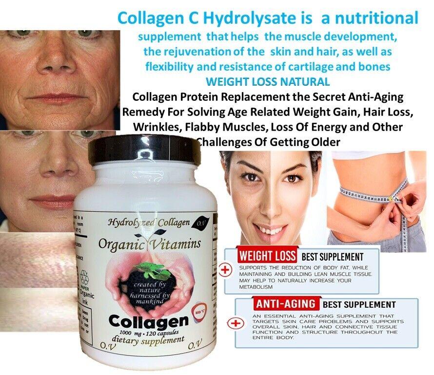 COLLAGEN Colageno ALFA Hydrolysate with Vitamin C ANTIANGING Colageno 120 organi 6