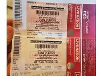 2 tickets for Guns N Roses this Saturday -london Olympic park
