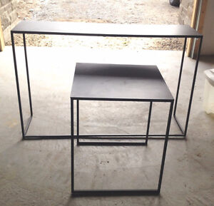 Black Wrought Iron Side Table