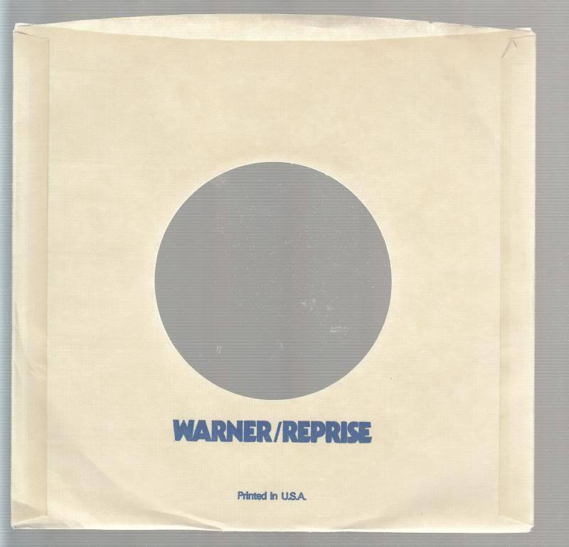 Company Sleeve 45 Warner / Reprise Yellow W/ Blue Lettering On
