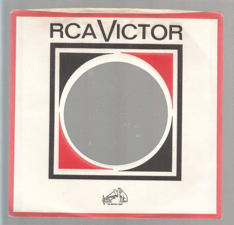 Company Sleeve 45 Rca Victor White/red/black On