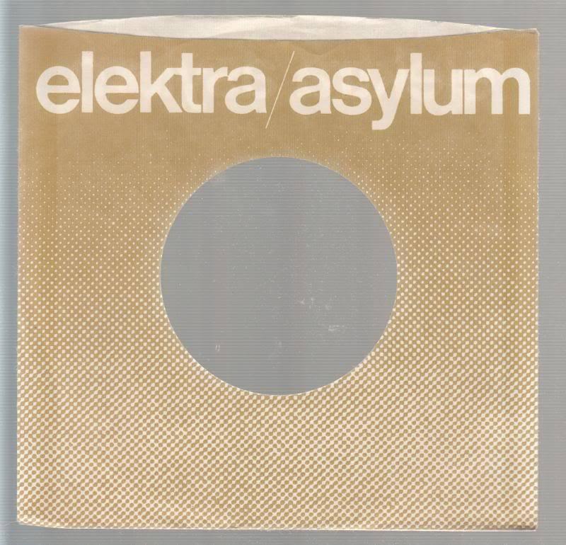 Company Sleeve 45 Elektra - Asylum Brown W/ White Lettering & Dots On