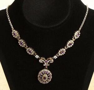 Beautiful SOLID 925 STERLING SILVER WHITE & PURPLE TOPAZ Cambridge Kitchener Area image 2