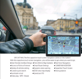 7 inch Touchscreen Sat Nav with UK and EU mapping