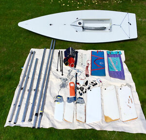 Laser sailboat with TONS of extras!!!
