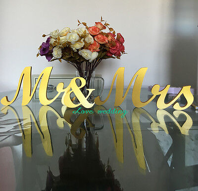 Mr & Mrs letters wedding table decoration freestanding GOLD Mr and Mrs signs - Mr And Mrs Signs For Wedding