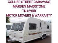 2012 Bailey unicorn Barcelona fixed bed caravan twinaxel +motor movers