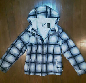 Womens Roxy Plaid Black & White Snowboard/Skiers Jacket