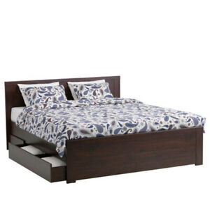 Ikea Brusali Bed Frame (Queen) 1-year-old