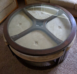 Round Coffee Table With Under Table Seats