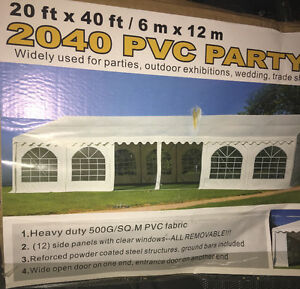 20 by 40 brand new party tent