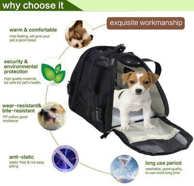 Pet Carrier Soft Sided Large Cat/Dog Comfort Travel Bag Airline Approved EK USA