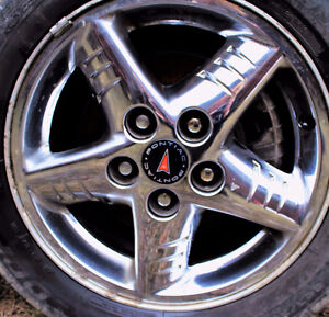 "PONTIAC GRAND AM 16"" ALLOY WHEELS CHROME (4)"