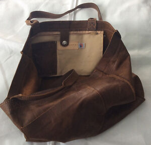Vin Baker Distressed Leather tote