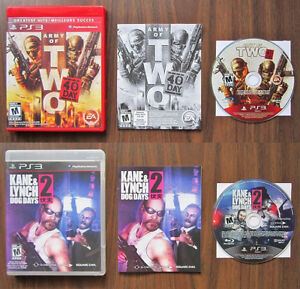 PS3 - ARMY OF TWO: THE 40TH DAY + KANE & LYNCH: DOG DAYS.