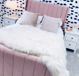 Single Ottoman Pink Bed - Like New