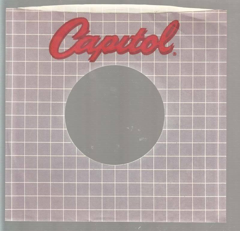 Company Sleeve 45 Capitol Grey W/ White Lines & Red Lettering On