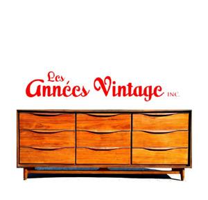 Commode dresser teck walnut mid-century vintage
