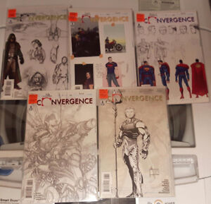 DC comics Convergence sketch variants #3-4-5-6-8