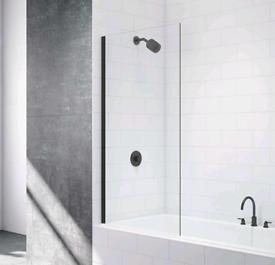 Black Fixed Bath Screen